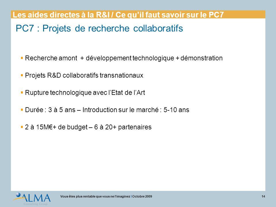 PC7 : Projets de recherche collaboratifs