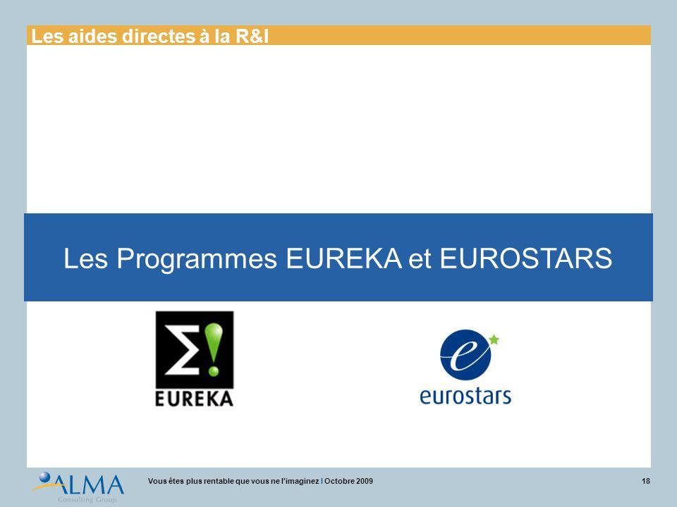 Les Programmes EUREKA et EUROSTARS
