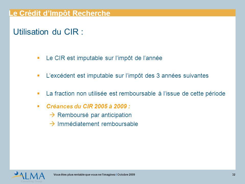 Utilisation du CIR : Le Crédit d'Impôt Recherche