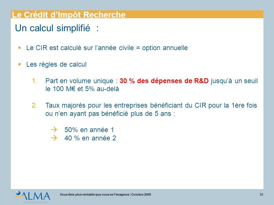 Un calcul simplifié : Le Crédit d'Impôt Recherche