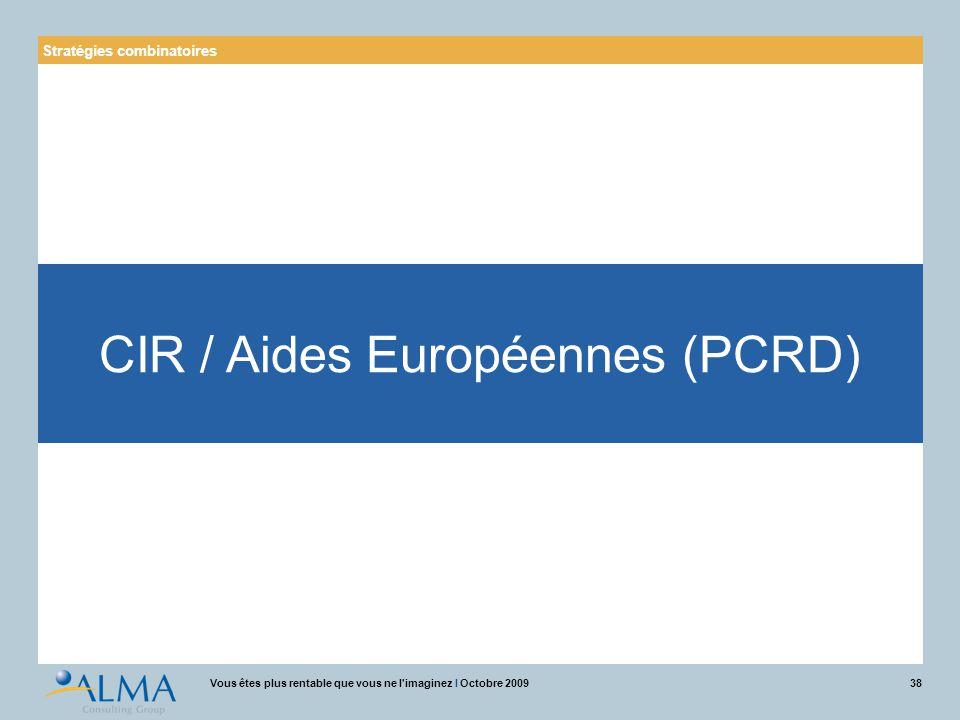 CIR / Aides Européennes (PCRD)