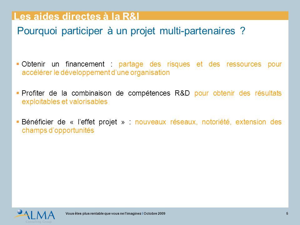 Pourquoi participer à un projet multi-partenaires