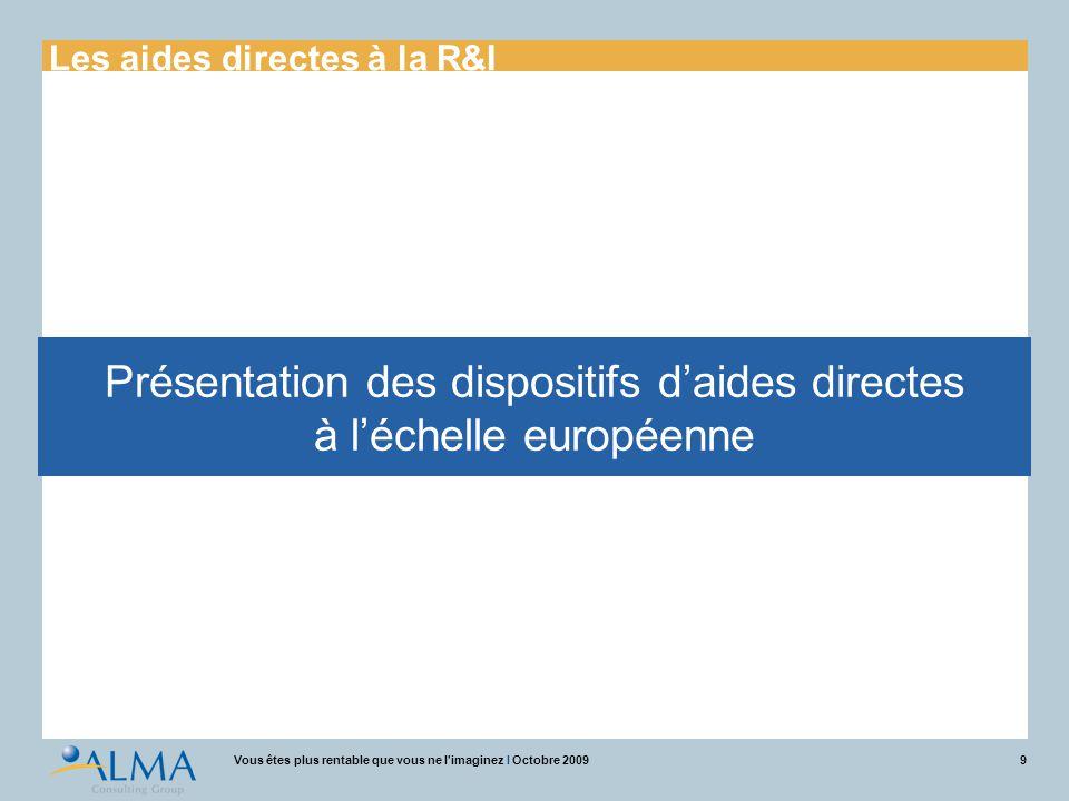 Présentation des dispositifs d'aides directes à l'échelle européenne