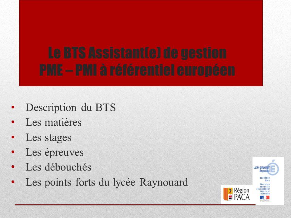 Le BTS Assistant(e) de gestion PME – PMI à référentiel européen