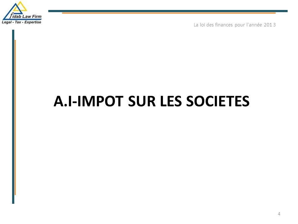 A.I-IMPOT SUR LES SOCIETES
