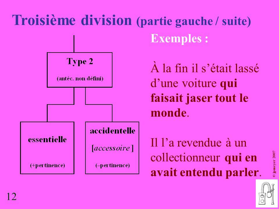 Troisième division (partie gauche / suite)