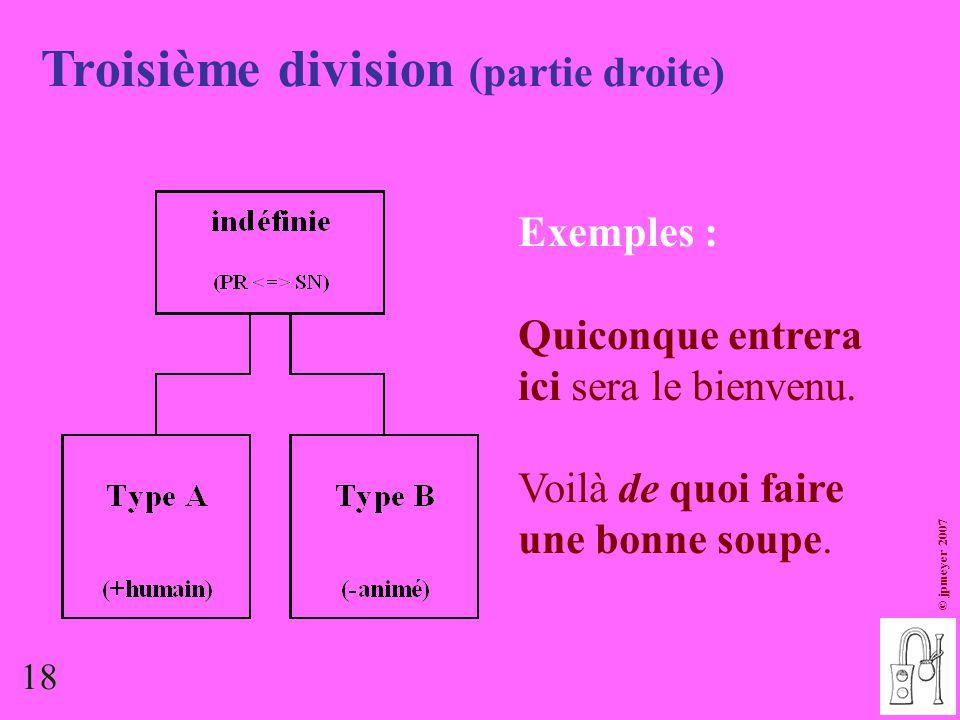 Troisième division (partie droite)