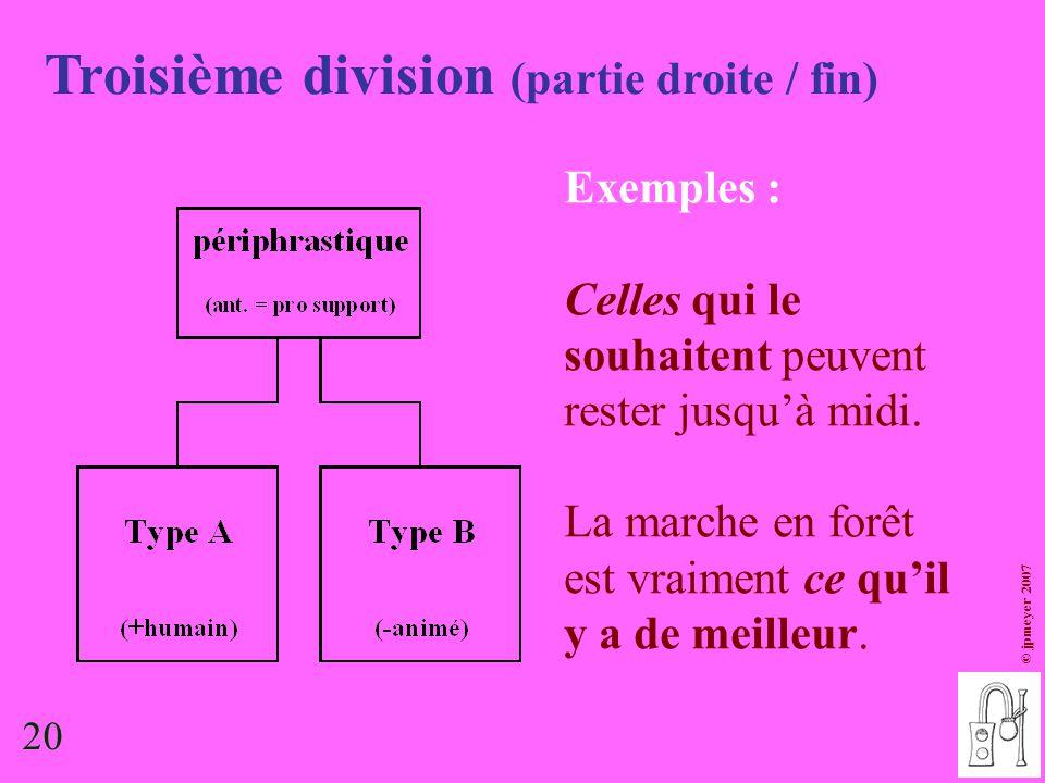 Troisième division (partie droite / fin)
