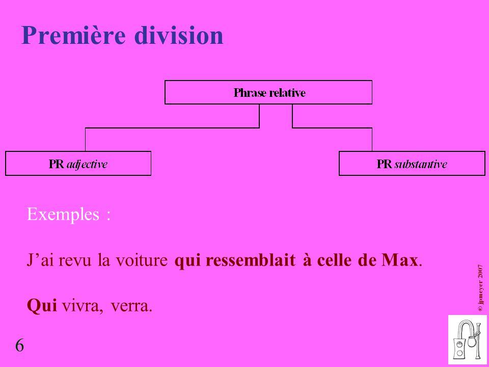 Première division Exemples :