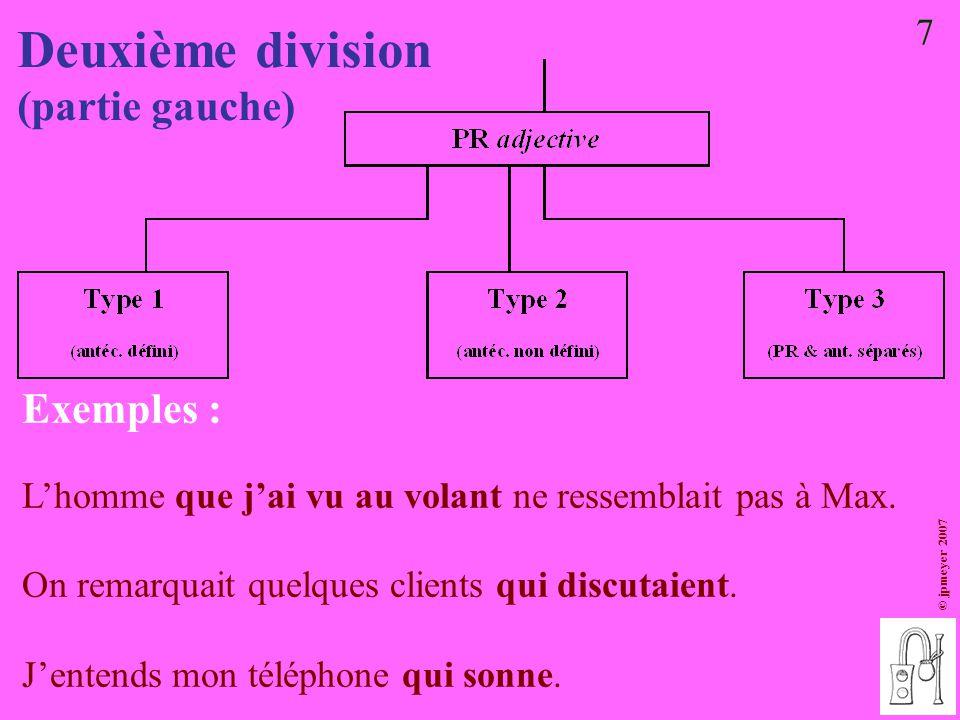 Deuxième division (partie gauche) Exemples : 7
