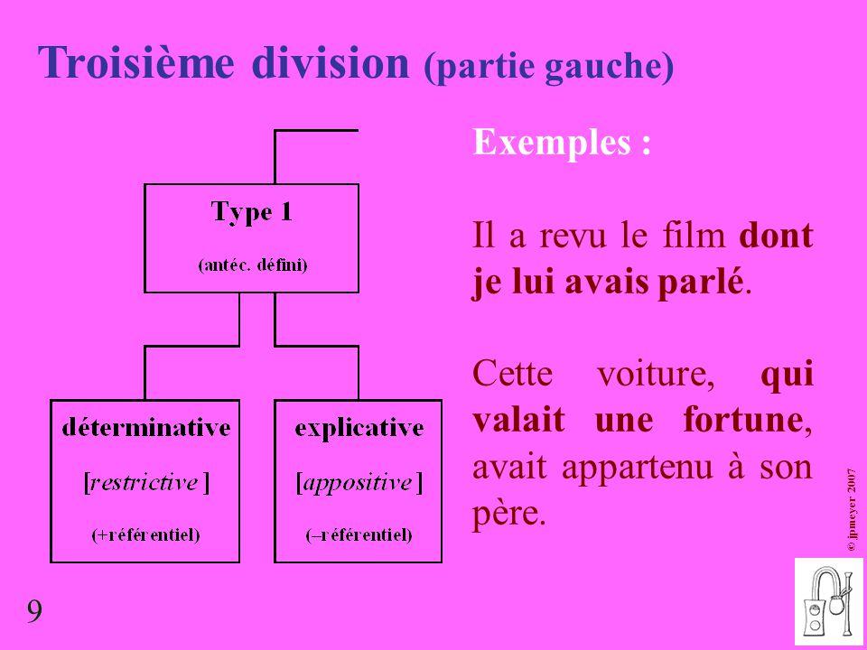 Troisième division (partie gauche)