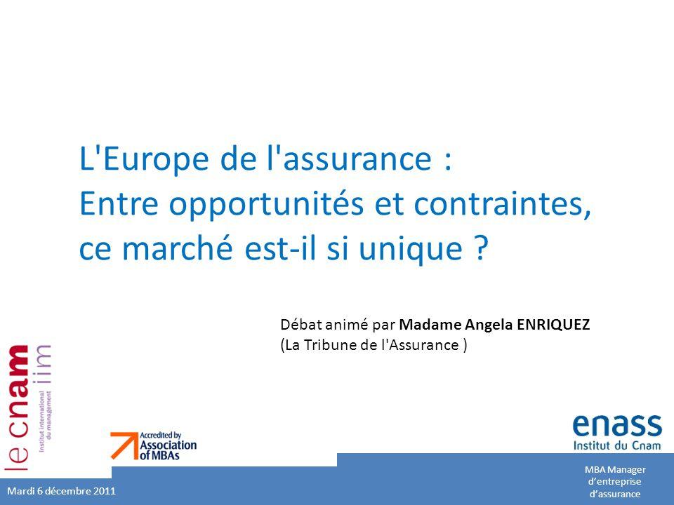 L Europe de l assurance : Entre opportunités et contraintes, ce marché est-il si unique