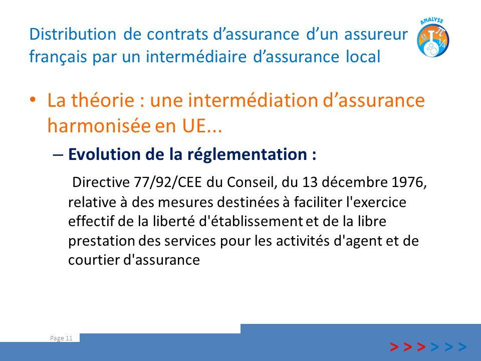 La théorie : une intermédiation d'assurance harmonisée en UE...
