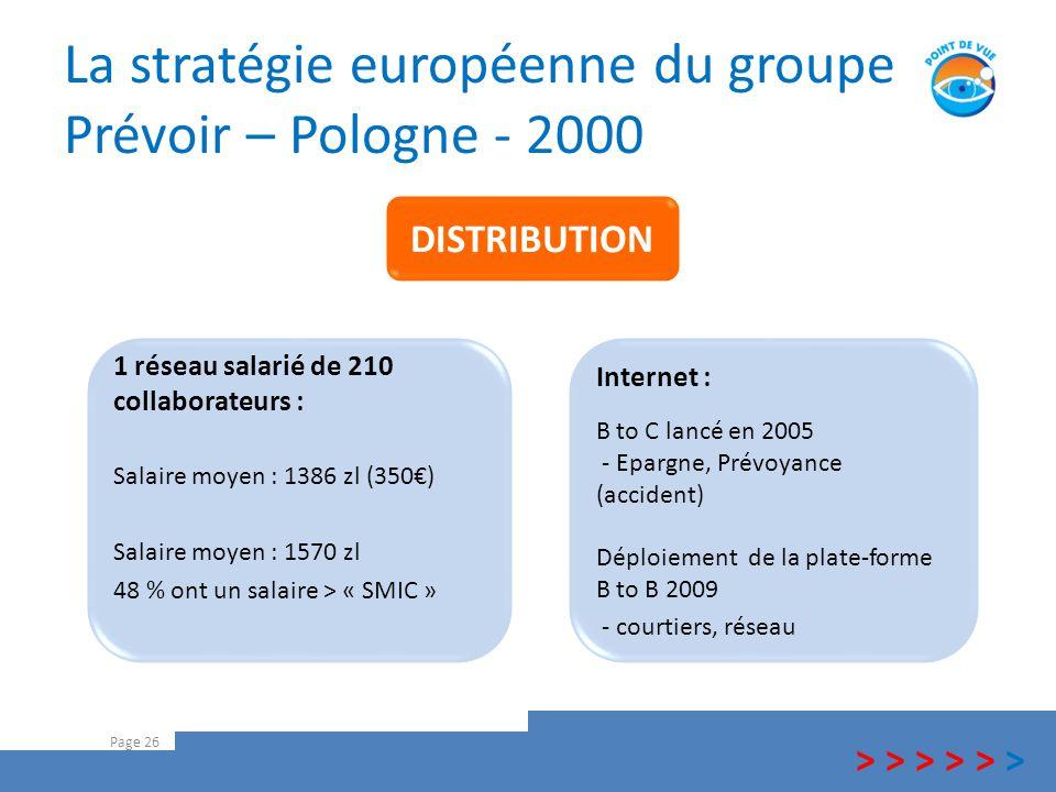 La stratégie européenne du groupe Prévoir – Pologne - 2000