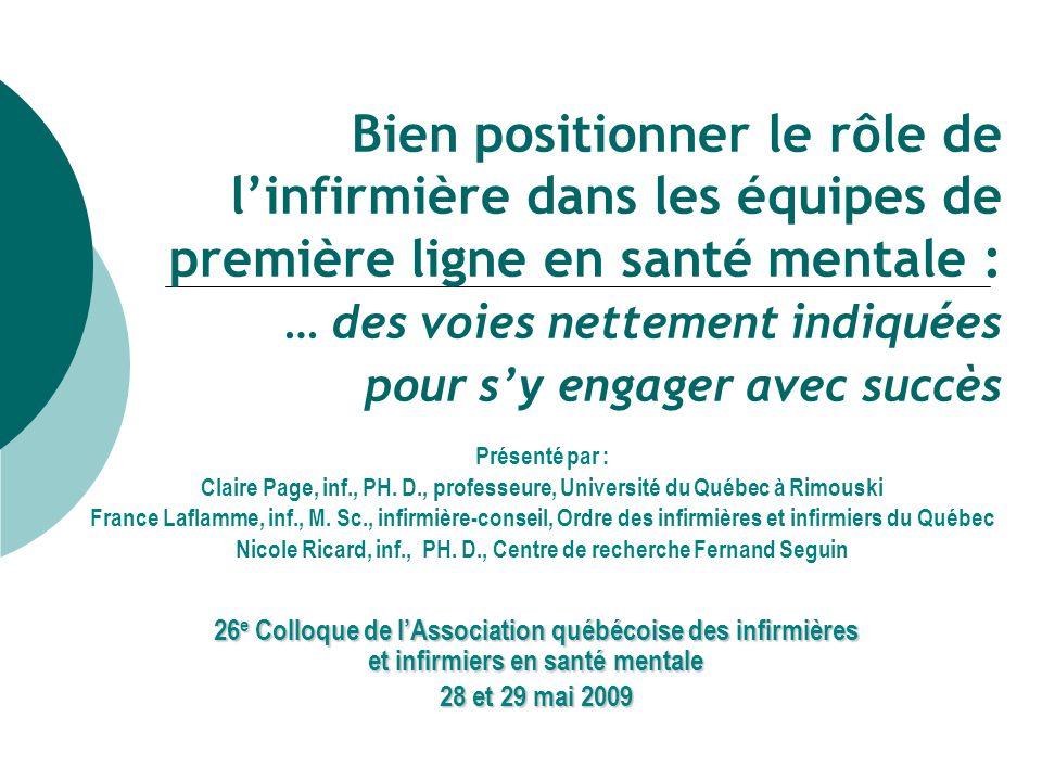 Nicole Ricard, inf., PH. D., Centre de recherche Fernand Seguin