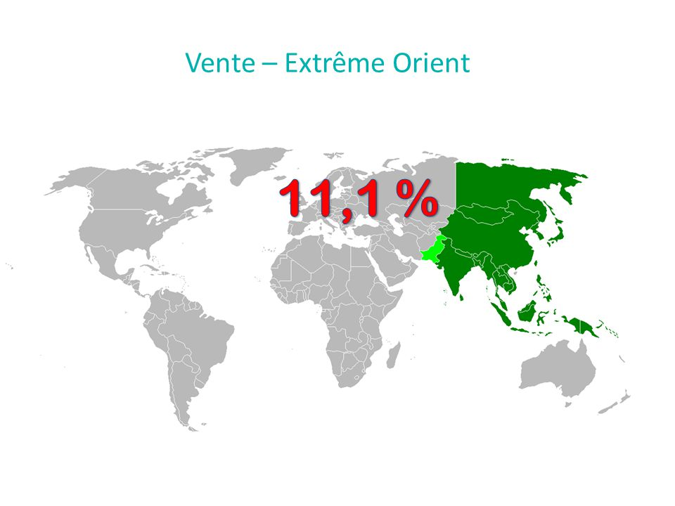 Vente – Extrême Orient 11,1 %