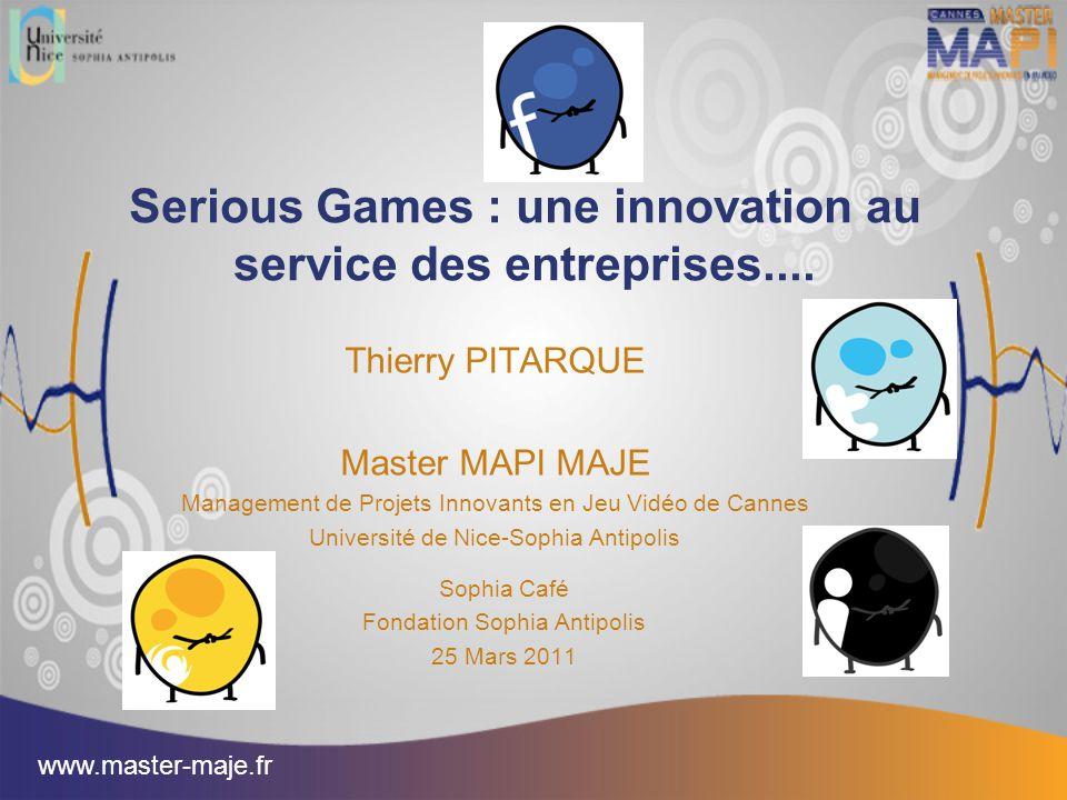 Serious Games : une innovation au service des entreprises....