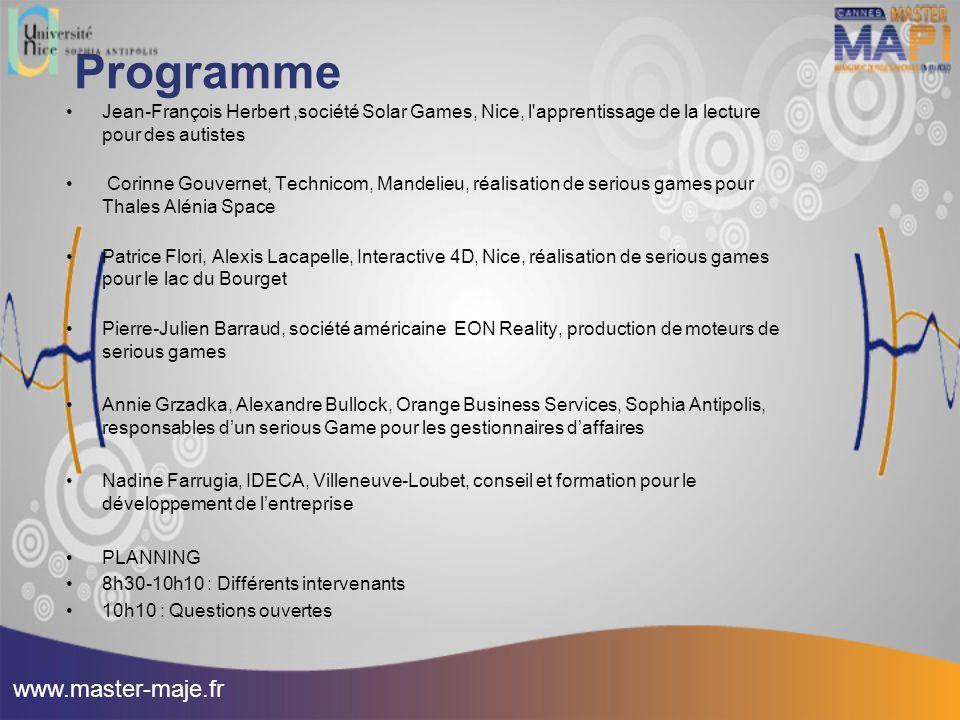Programme www.master-maje.fr