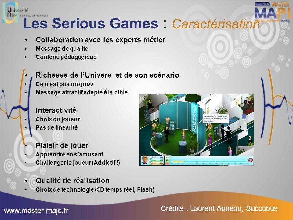 Les Serious Games : Caractérisation