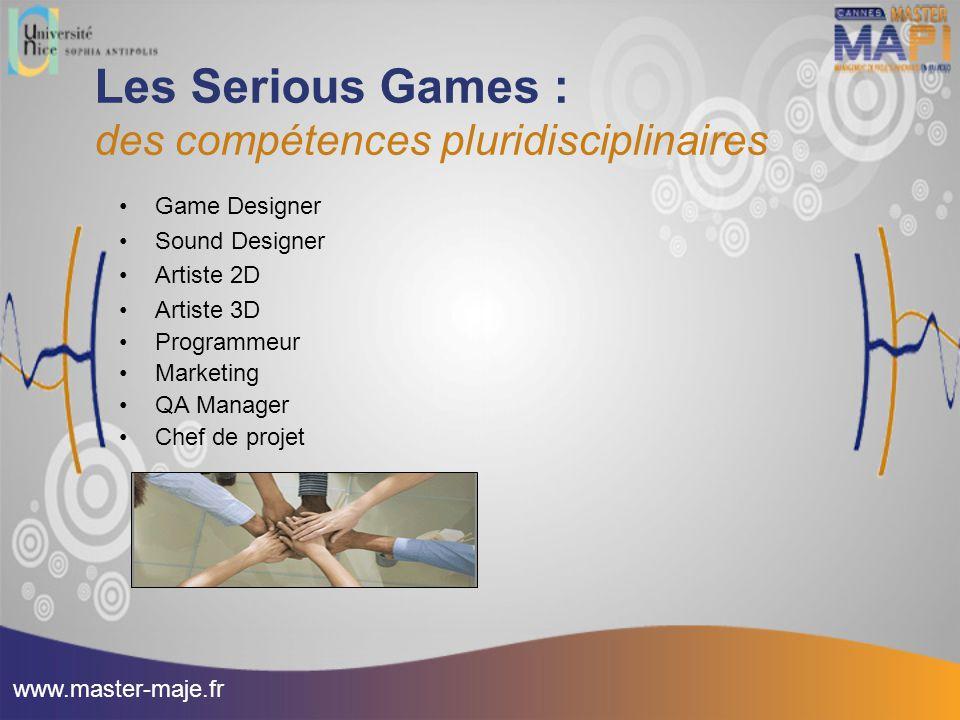 Les Serious Games : des compétences pluridisciplinaires