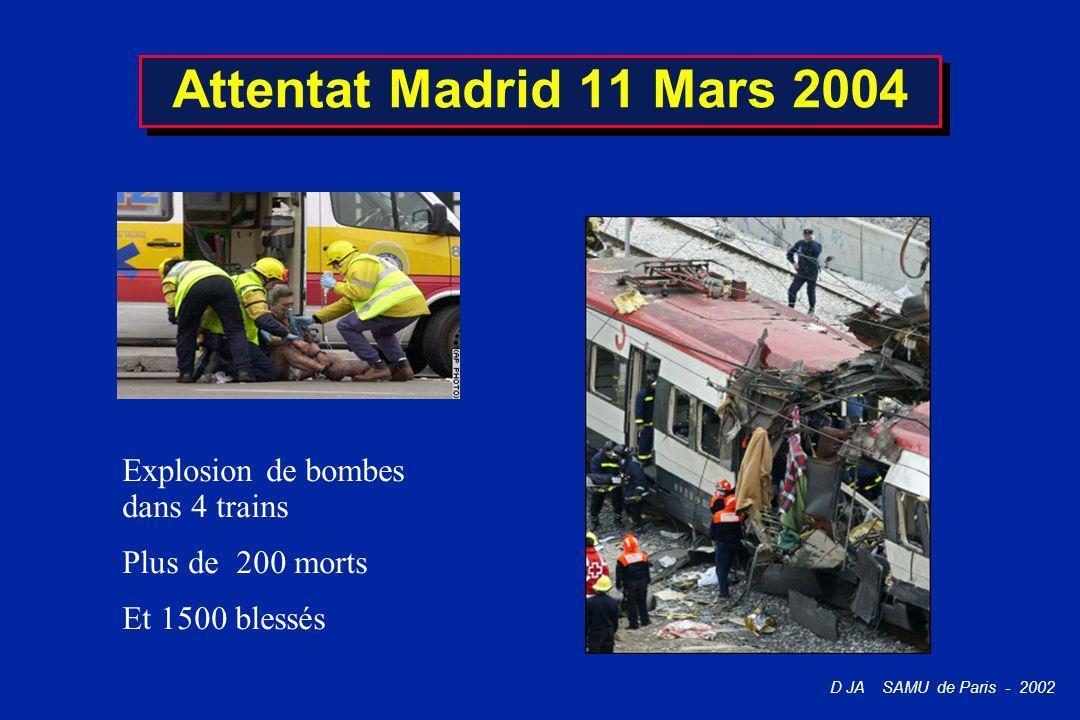Attentat Madrid 11 Mars 2004 Explosion de bombes dans 4 trains