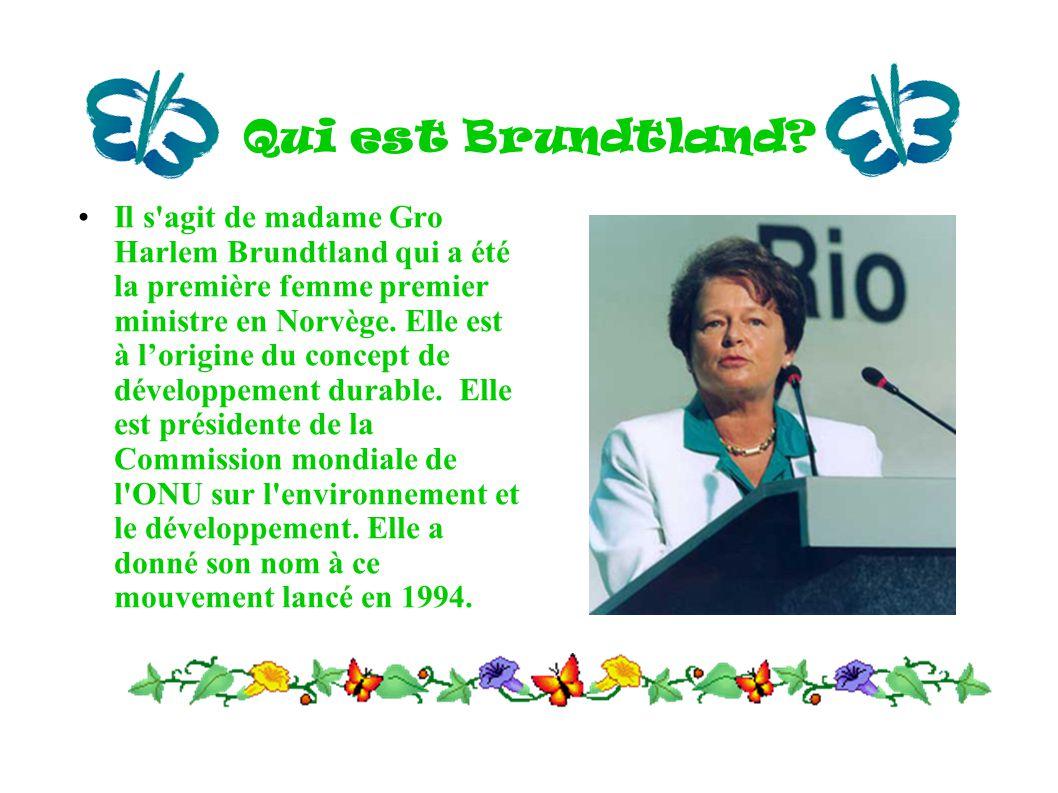 Qui est Brundtland