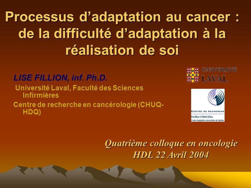 Quatrième colloque en oncologie HDL 22 Avril 2004