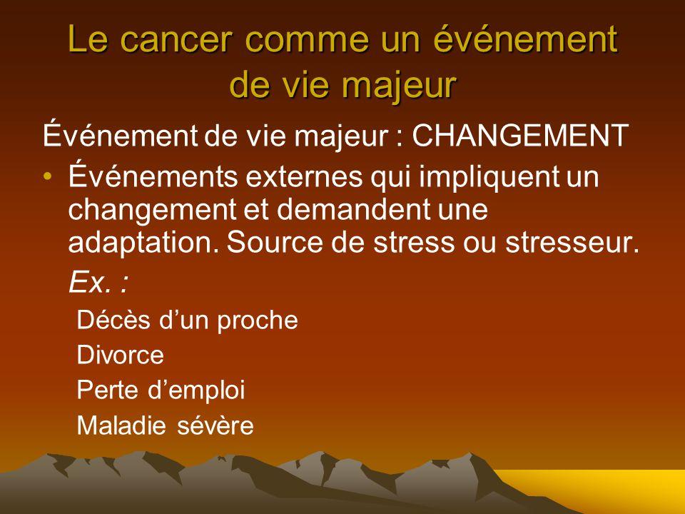 Le cancer comme un événement de vie majeur
