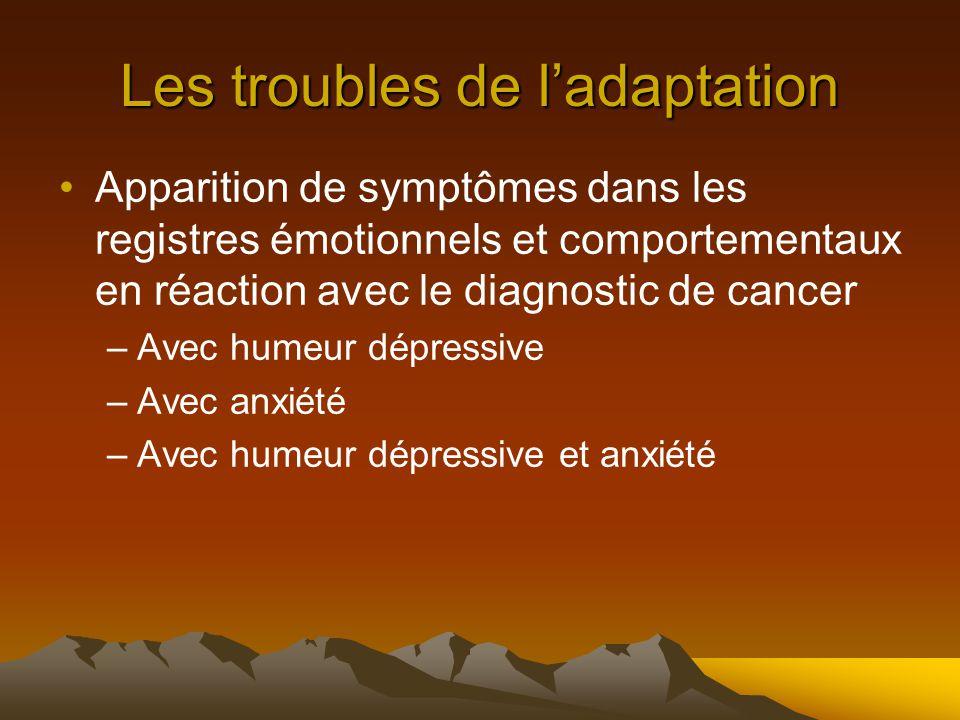 Les troubles de l'adaptation