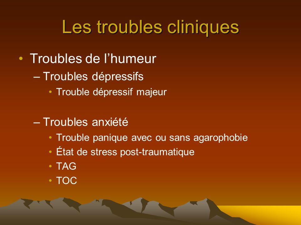 Les troubles cliniques