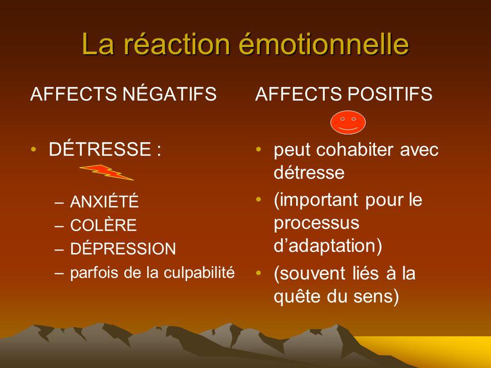 La réaction émotionnelle
