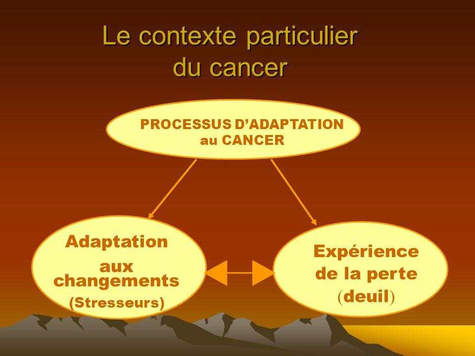 Le contexte particulier du cancer