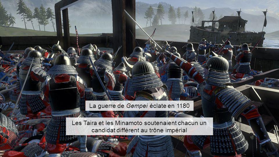 La guerre de Gempei éclate en 1180