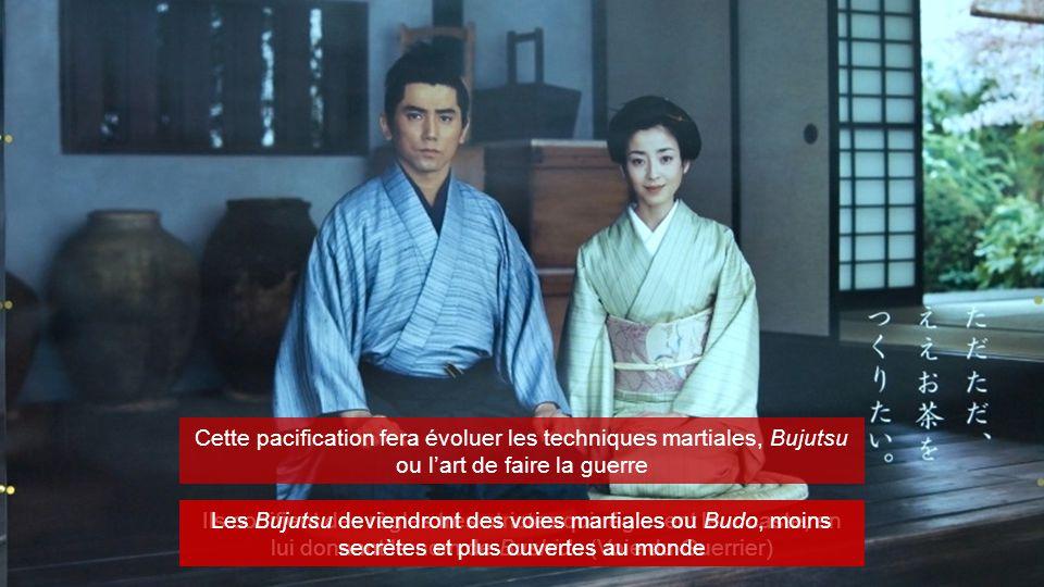 Cette pacification fera évoluer les techniques martiales, Bujutsu ou l'art de faire la guerre