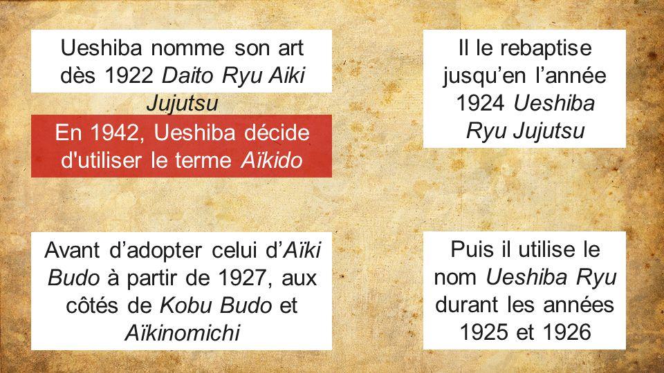 Ueshiba nomme son art dès 1922 Daito Ryu Aiki Jujutsu