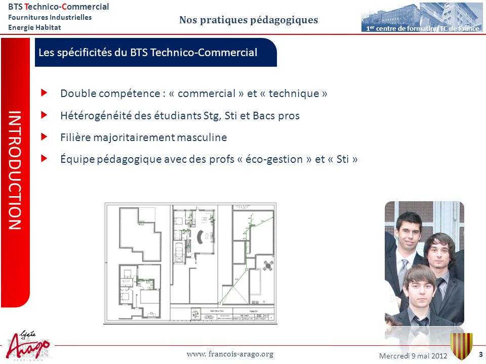 INTRODUCTION Les spécificités du BTS Technico-Commercial