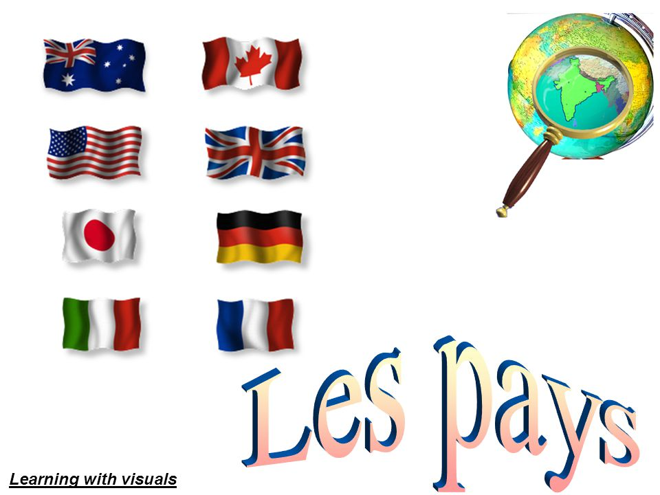Les pays Learning with visuals