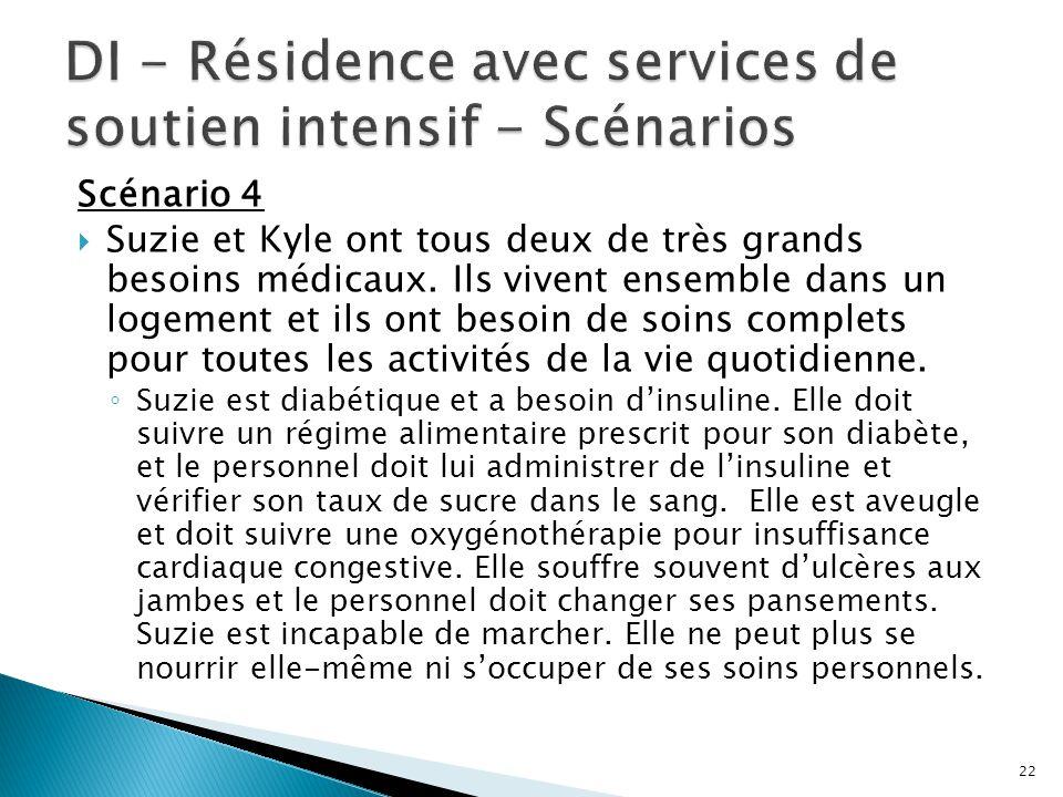 DI - Résidence avec services de soutien intensif - Scénarios