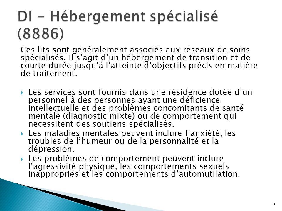 DI - Hébergement spécialisé (8886)