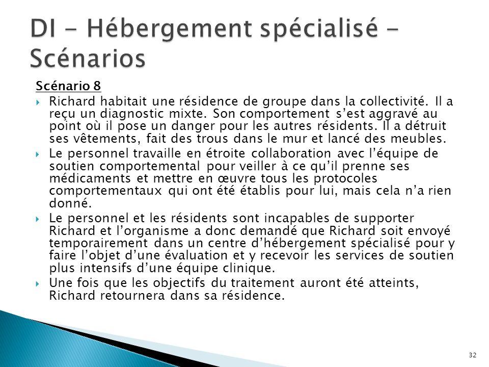 DI - Hébergement spécialisé - Scénarios