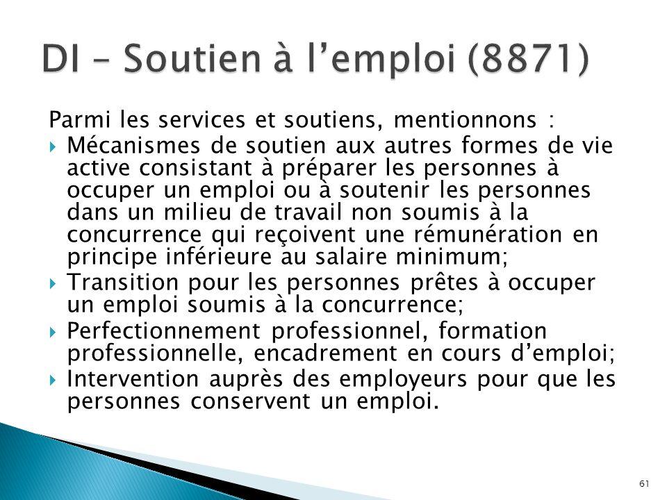 DI – Soutien à l'emploi (8871)