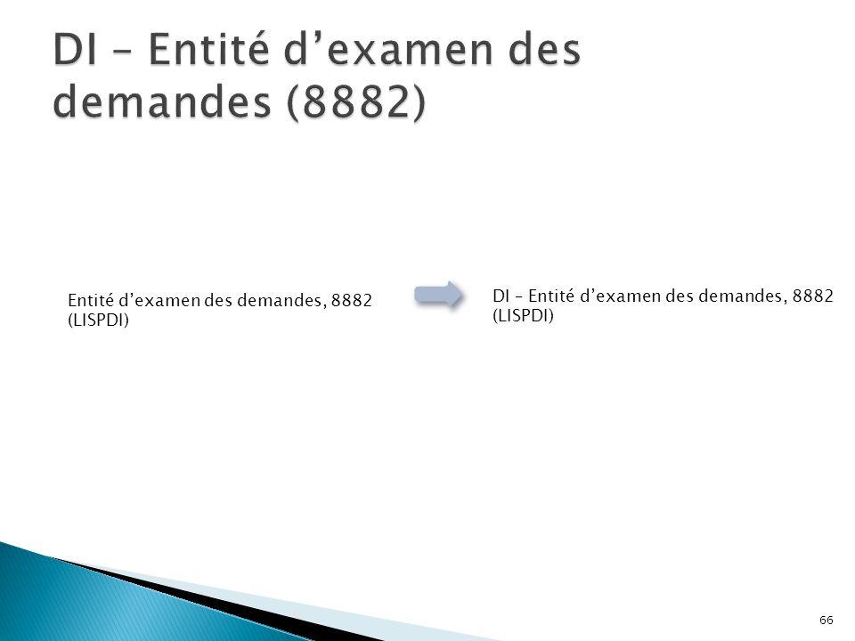 DI – Entité d'examen des demandes (8882)