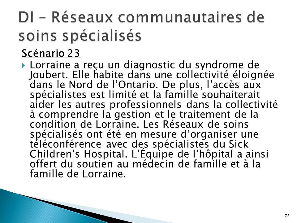 DI – Réseaux communautaires de soins spécialisés