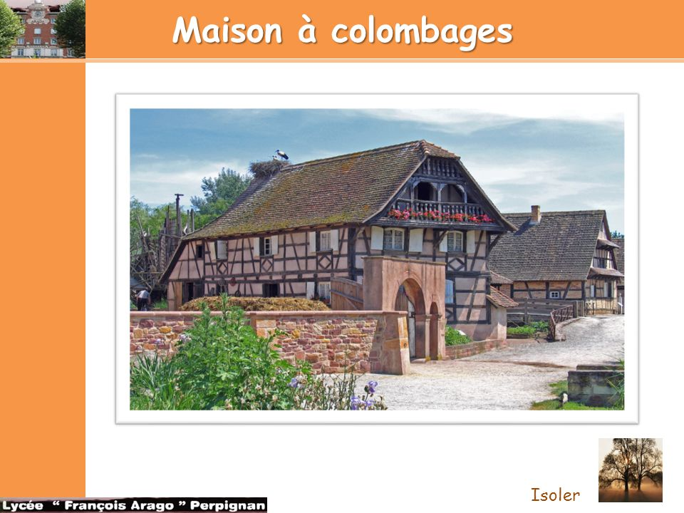 Maison à colombages Isoler