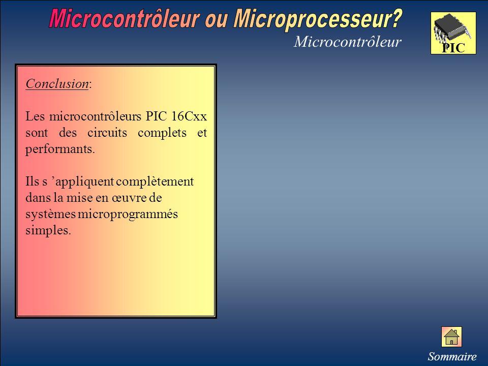 Microcontrôleur ou Microprocesseur