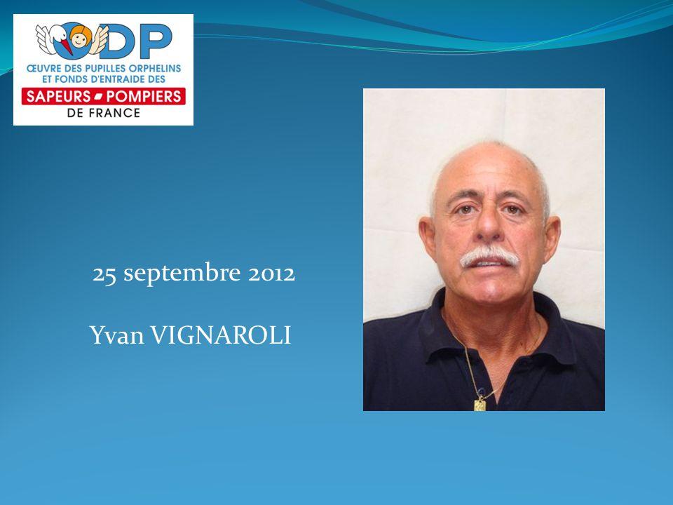 25 septembre 2012 Yvan VIGNAROLI