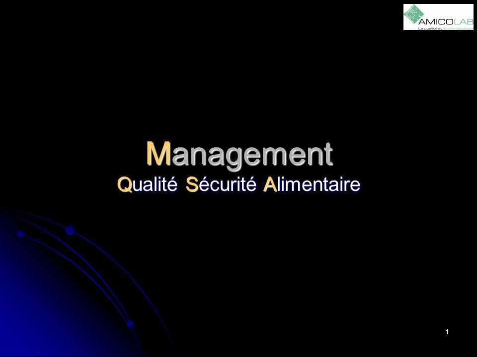 Management Qualité Sécurité Alimentaire
