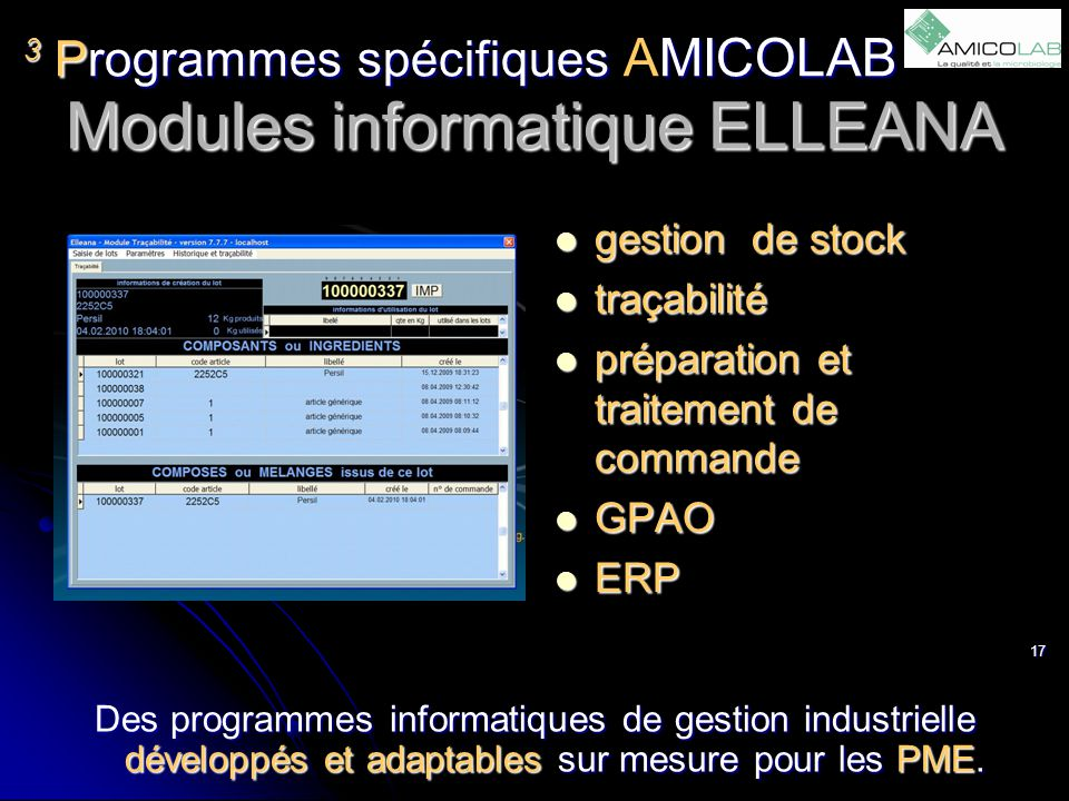 Modules informatique ELLEANA