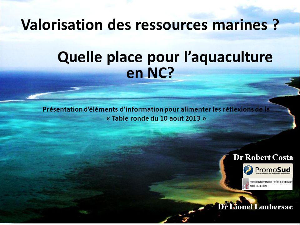 Valorisation des ressources marines