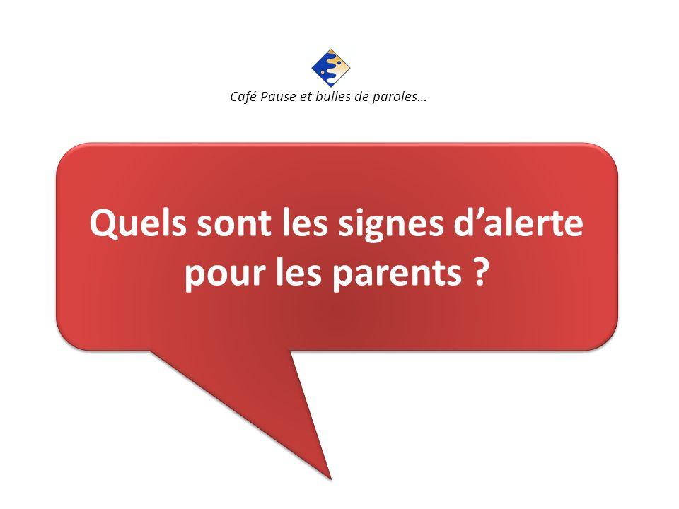 Quels sont les signes d'alerte pour les parents